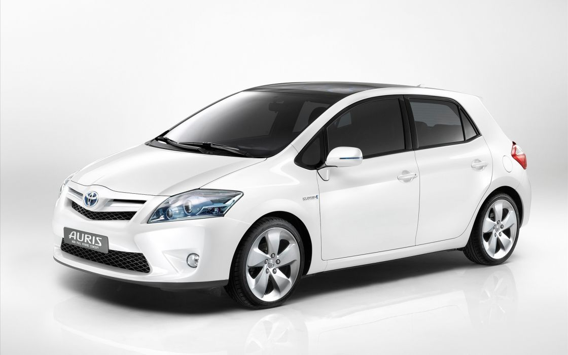 white cars Toyota white cars white background Toyota Auris front angle view wallpaper