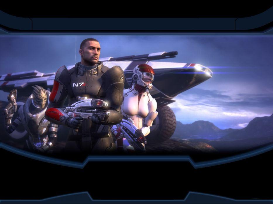 Mass Effect Garrus Vakarian Commander Shepard Ashley Williams wallpaper