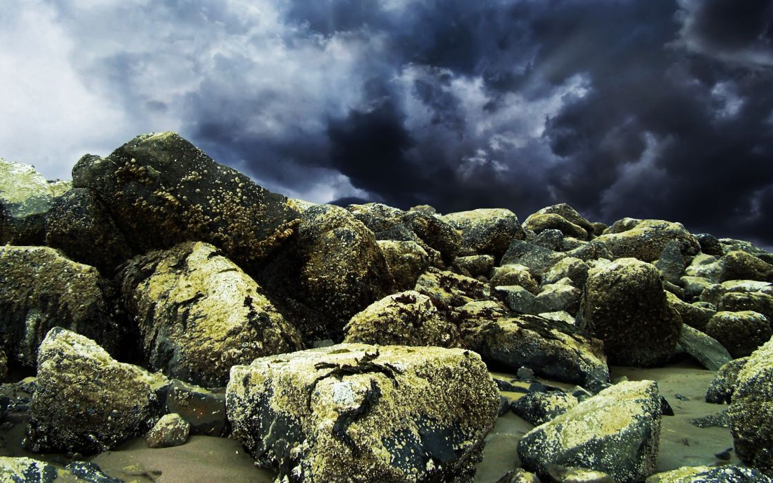 landscapes stones wallpaper
