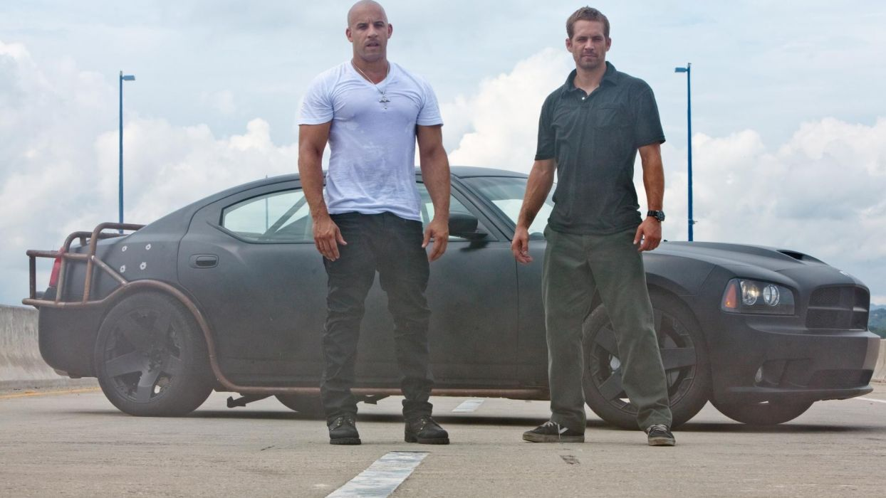 cars Paul Walker Vin Diesel Fast Five Dodge Charger SRT8 auto wallpaper