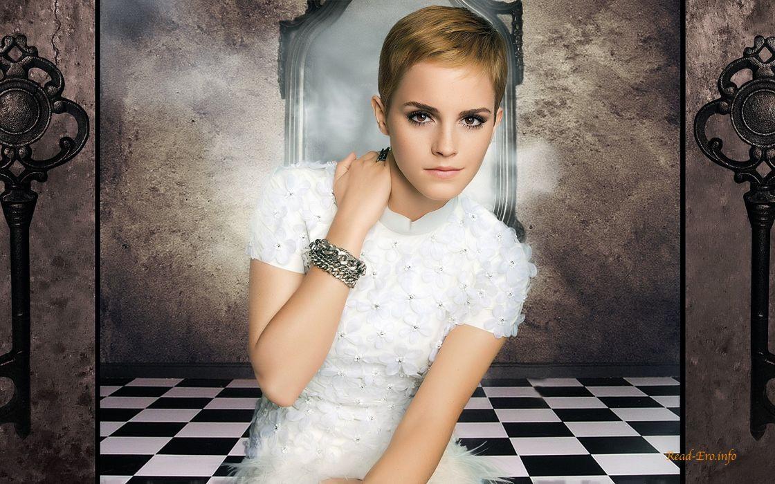 women Emma Watson models wallpaper