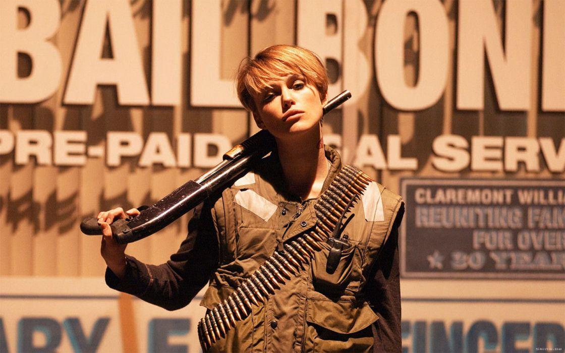 guns Domino (movie) Keira Knightley wallpaper