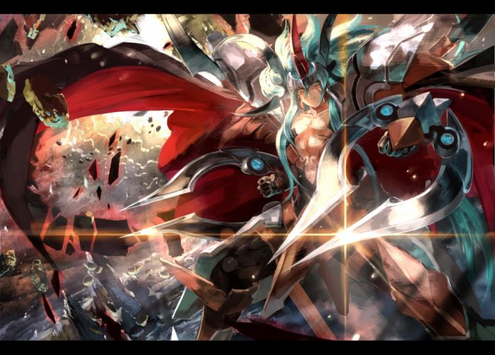 cardfight!! vanguard armor gloves male salvation lion grand ezel scissors ultimate asuka yellow eyes wallpaper