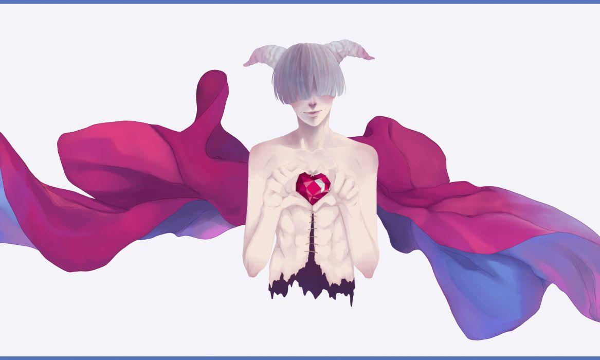 Mauve Gris original demon love mood fantasy       g wallpaper