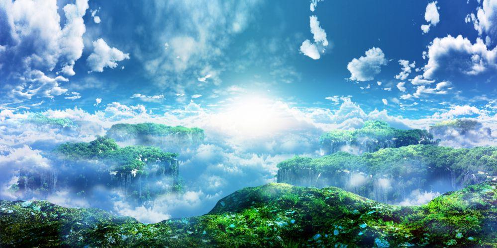 original 3d clouds landscape nobody original scenic sky y-k wallpaper