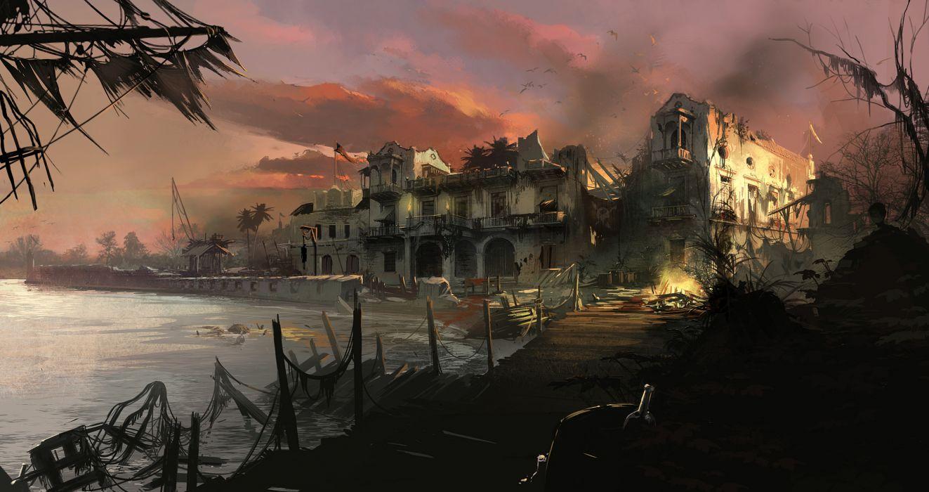 Assassins Creed 4 Black Flag Ruins dark fantasy apocalyptic     f wallpaper