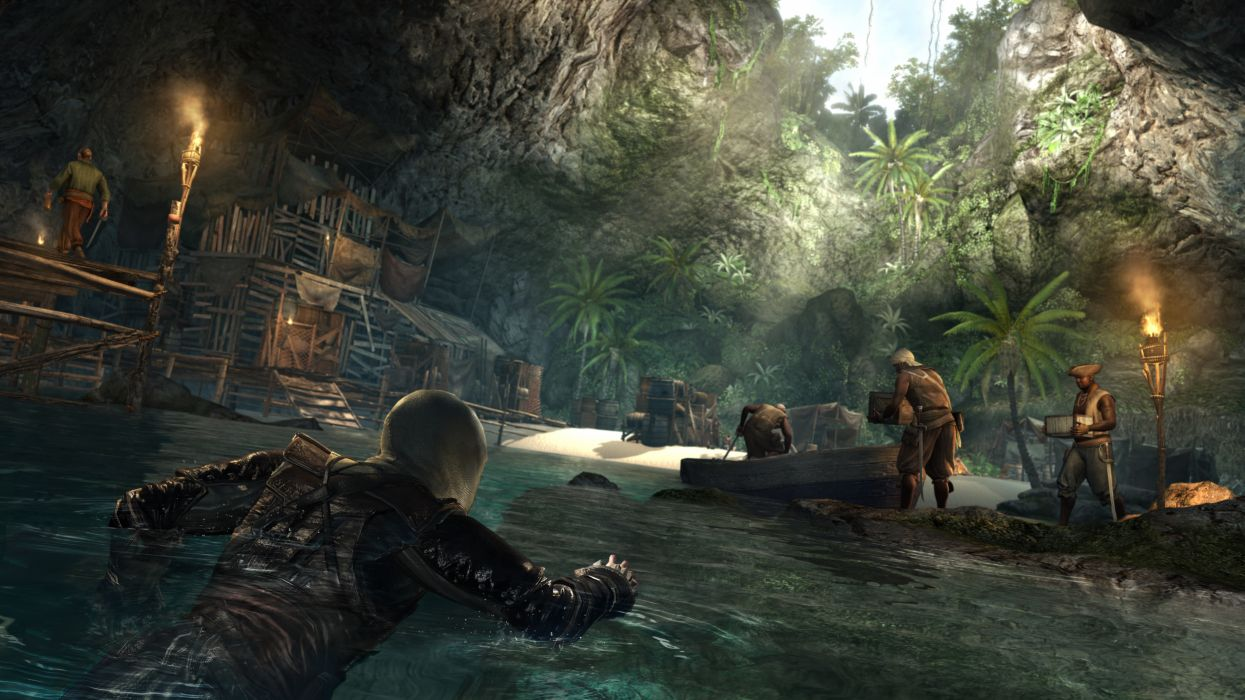 Assassins Creed 4 Black Flag Pirates Games fantasy wallpaper