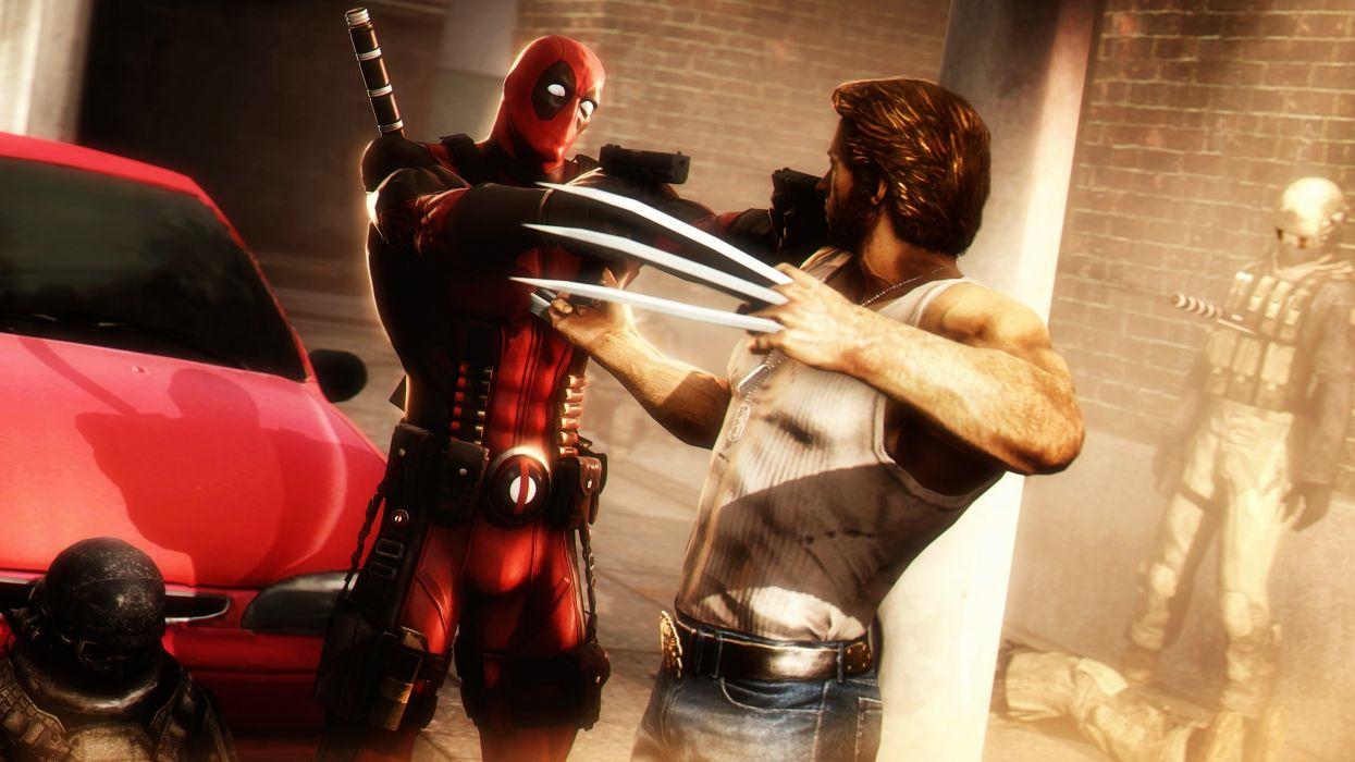 Heroes comics Deadpool hero Wolverine hero Warrior wallpaper