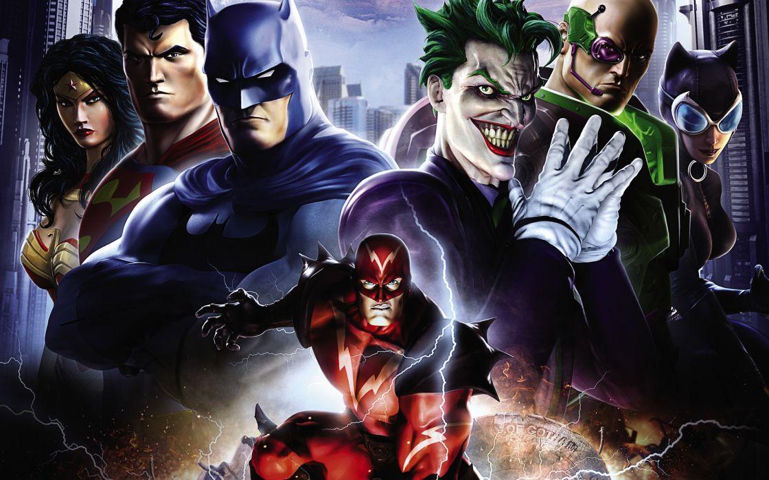 Heroes comics Joker hero Batman hero superman wonder woman flash wallpaper