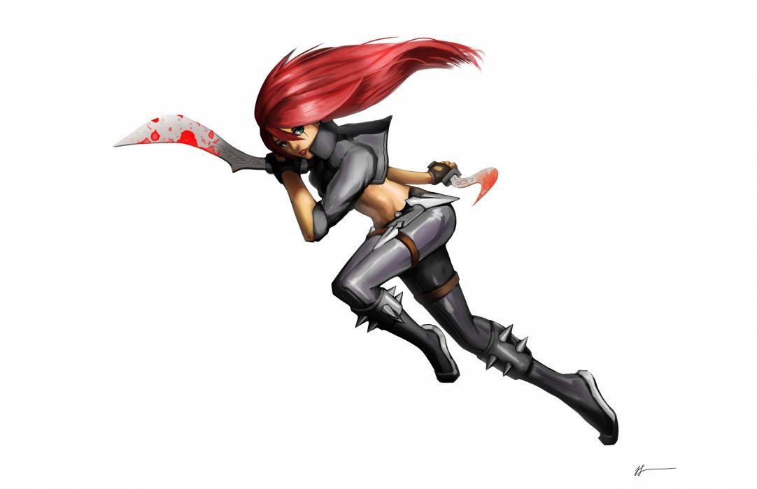 League of Legends Warrior katarina Redhead girl Games Girls Fantasy wallpaper