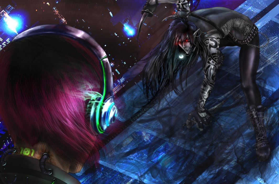 original Battles Warrior Headphones gothic goth dark sci-fi magic wallpaper