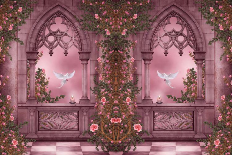 Pigeons Fantasy bokeh mood wallpaper