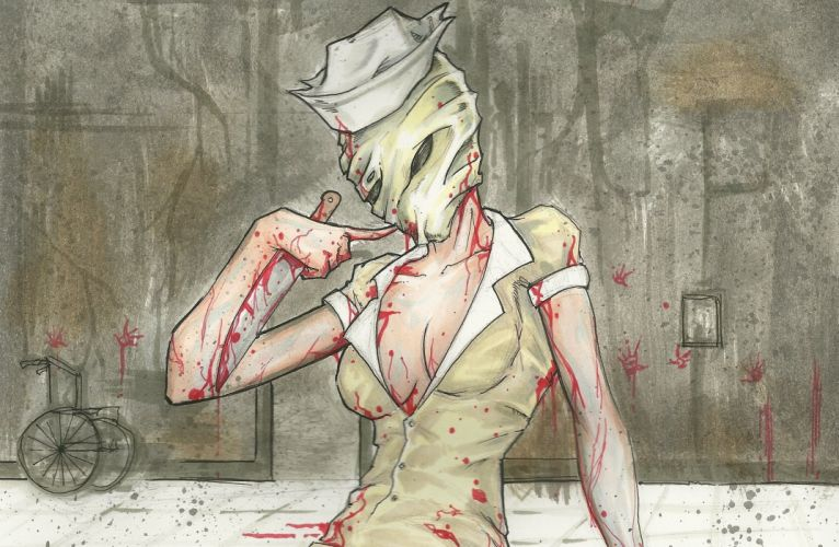 Silent Hill Painting Art Blood Games Girls Fantasy dark horror wallpaper