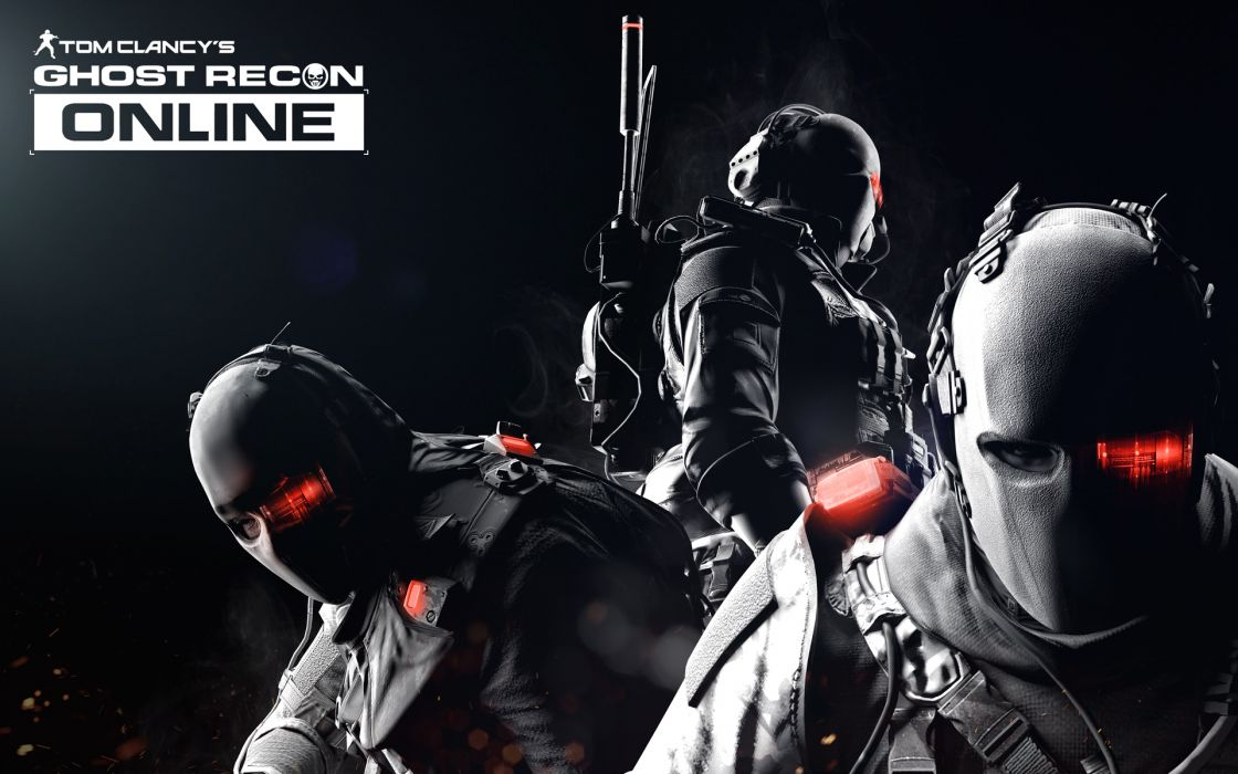 Tom Clancy Ghost Recon Warrior Soldiers online sci-fi mask armor wallpaper