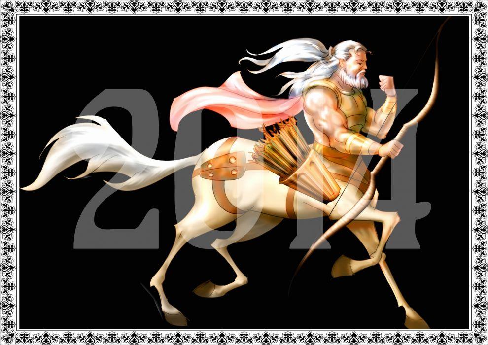 new year 2014 horse centaur fantasy wallpaper