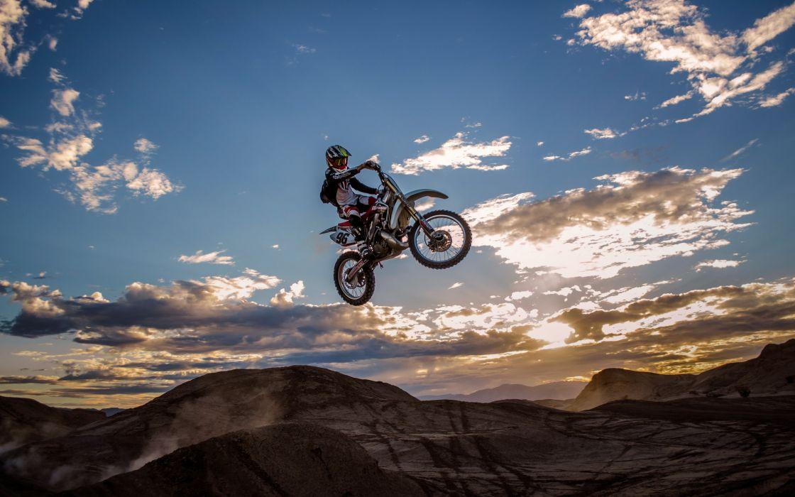 sky sport jump bike dirtbike moto      g wallpaper