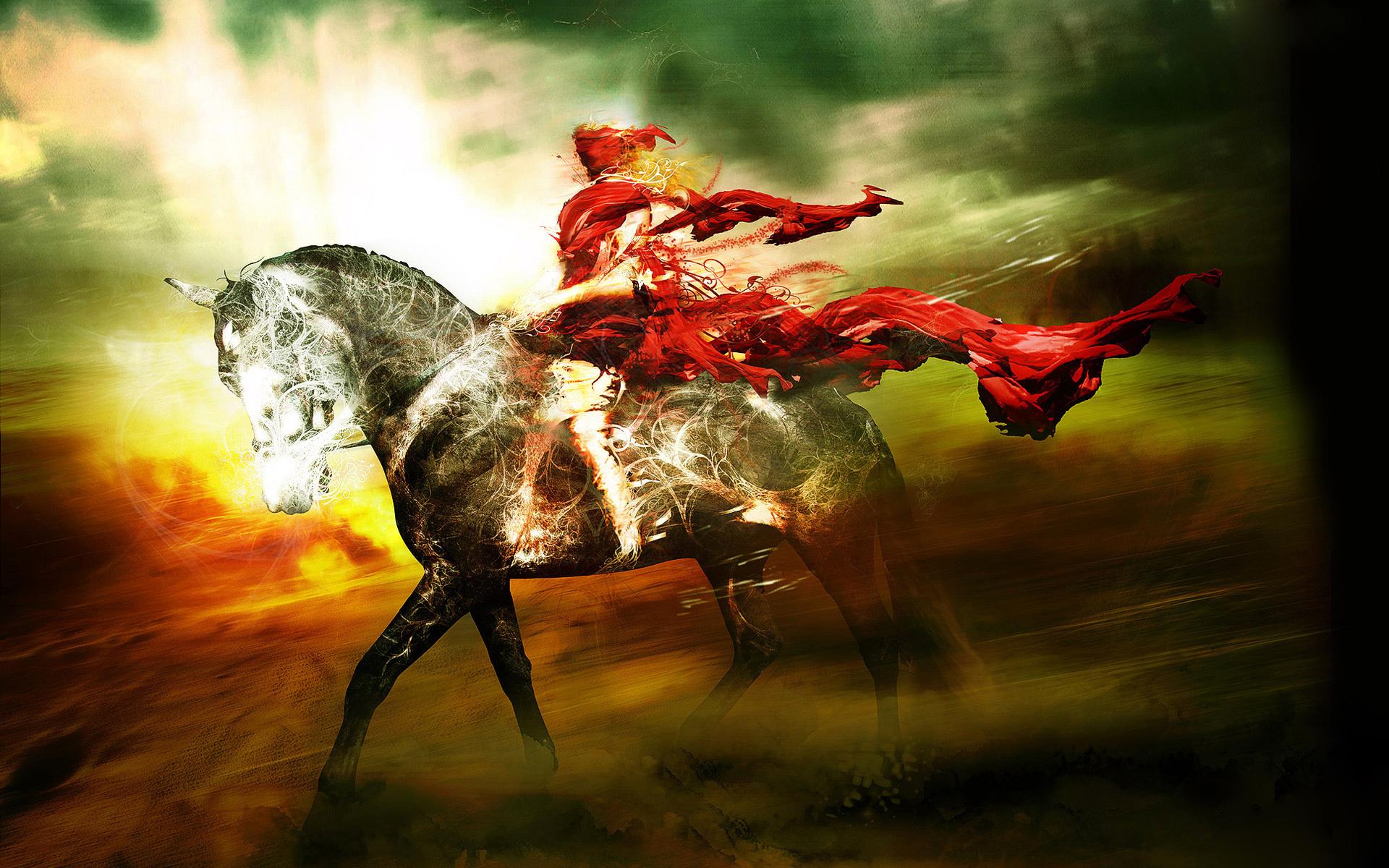 Horse rider wallpaper - photo#29