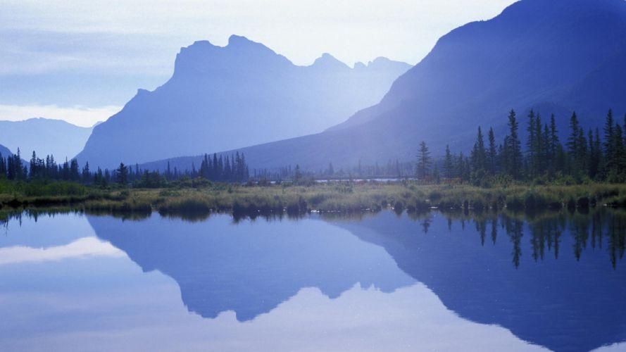 nature lake reflection sun landscape hd wallpaper