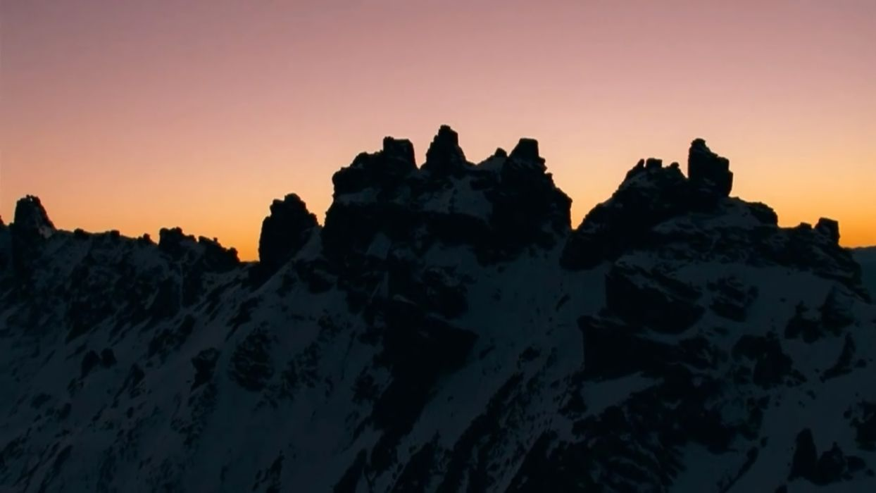 Nature ice mountain sunset landscape hd wallpaper wallpaper