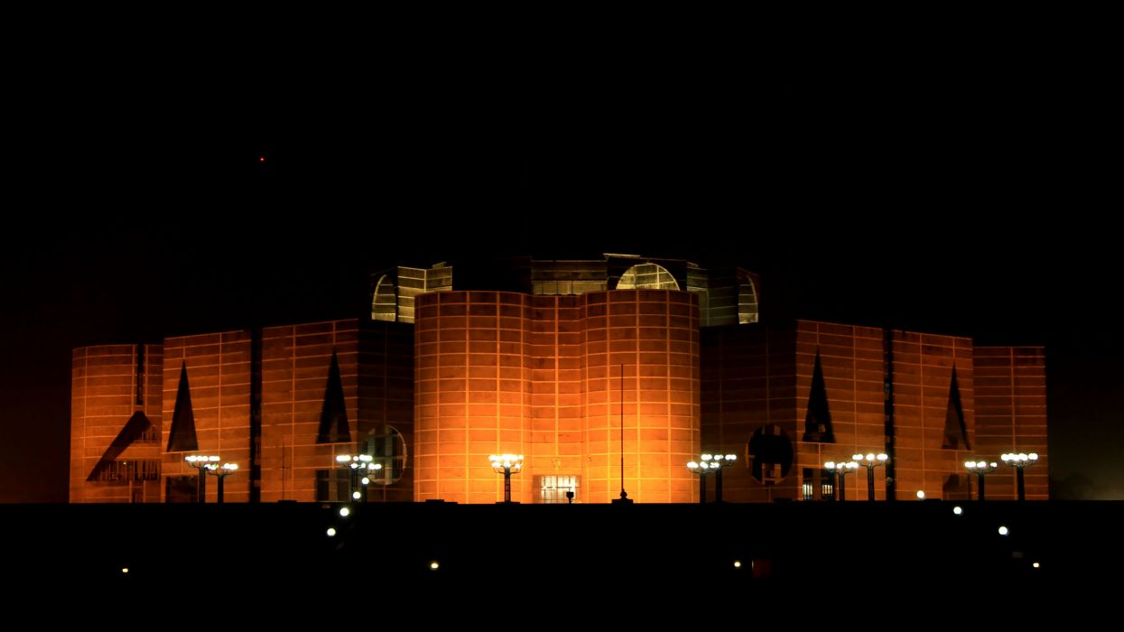 Bangladesh parlament house night hd wallpaper wallpaper
