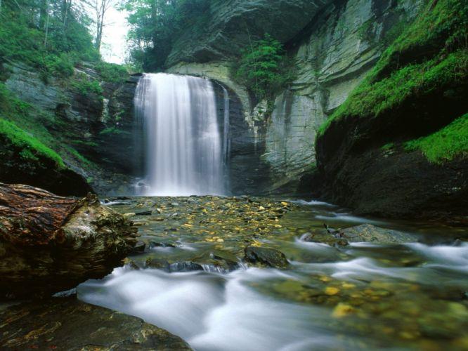nature streams waterfalls wallpaper