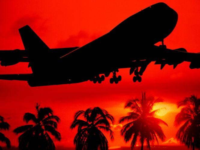 silhouettes takeoff wallpaper