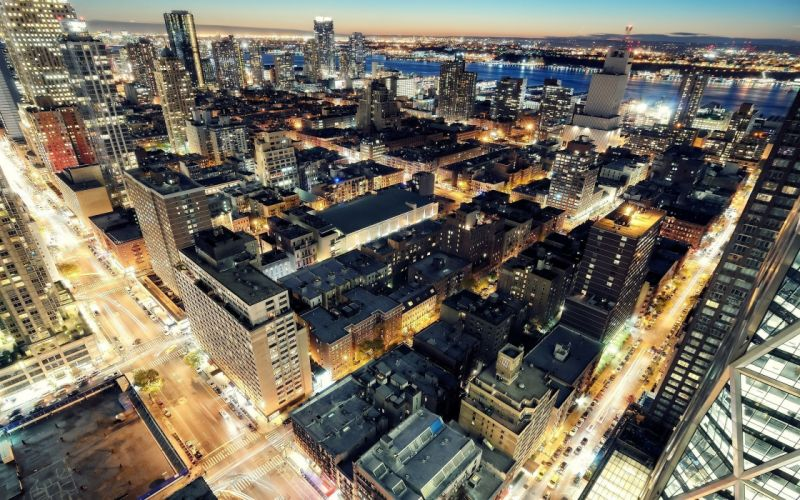 cityscapes night buildings city lights wallpaper