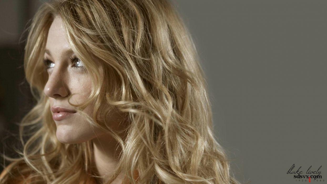 blondes women actress Blake Lively models celebrity faces wallpaper