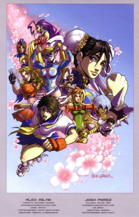 video games Street Fighter Cammy artbook Chun-Li artwork Sakura Kasugano wallpaper