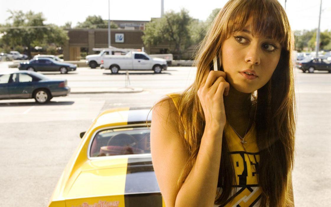 brunettes Mary Elizabeth Winstead movies cars brown eyes Death Proof standing vehicles cheerleaders wallpaper