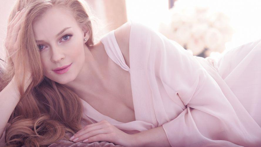blondes women blue eyes lying down Avon Sensuelle Perfume Adv Svetlana Khodchenkova wallpaper