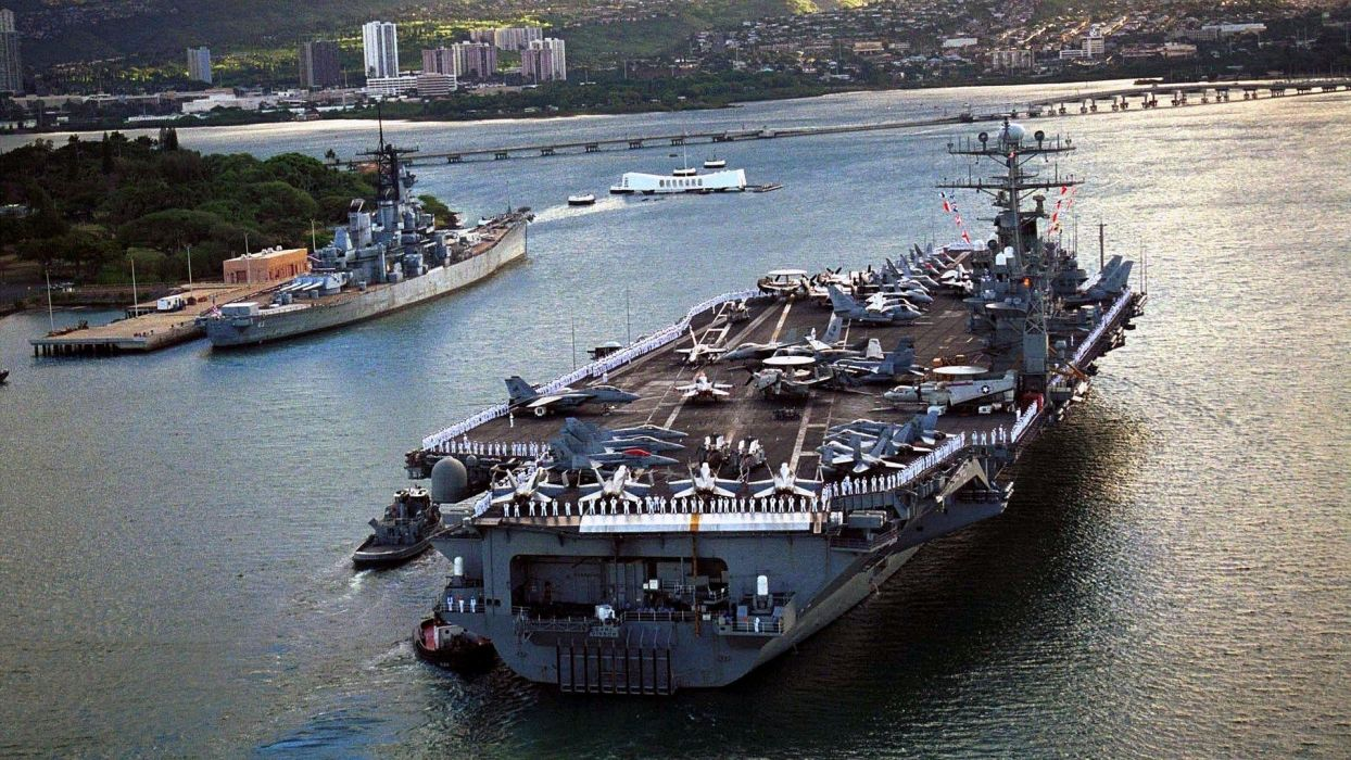 airplanes bomber aircraft carriers USS Carl Vinson wallpaper