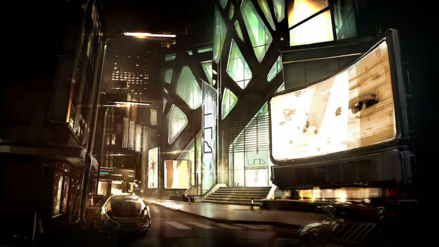 futuristic futurist digital art Deus Ex: Human Revolution Game Art wallpaper