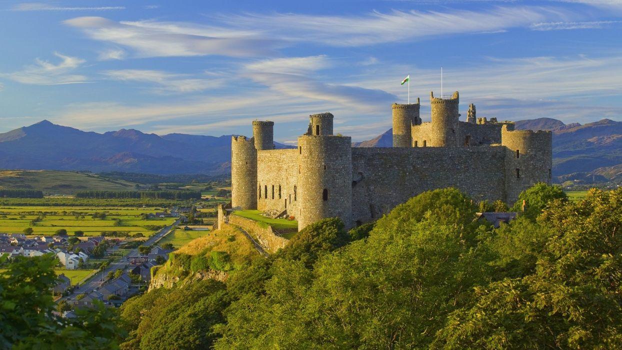 landscapes castles wallpaper