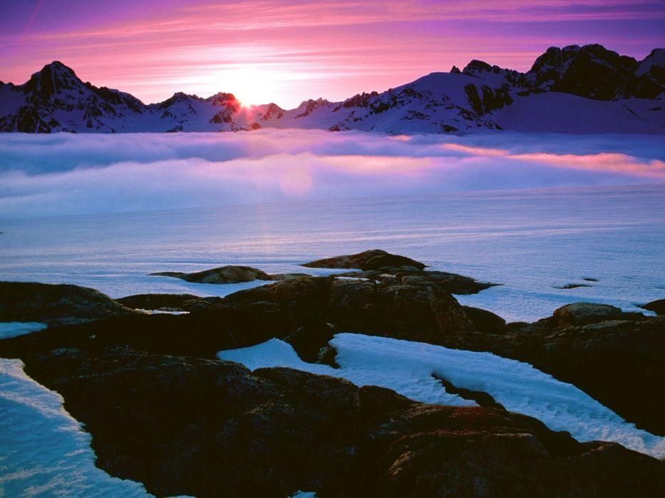 light morning Greenland colors wallpaper