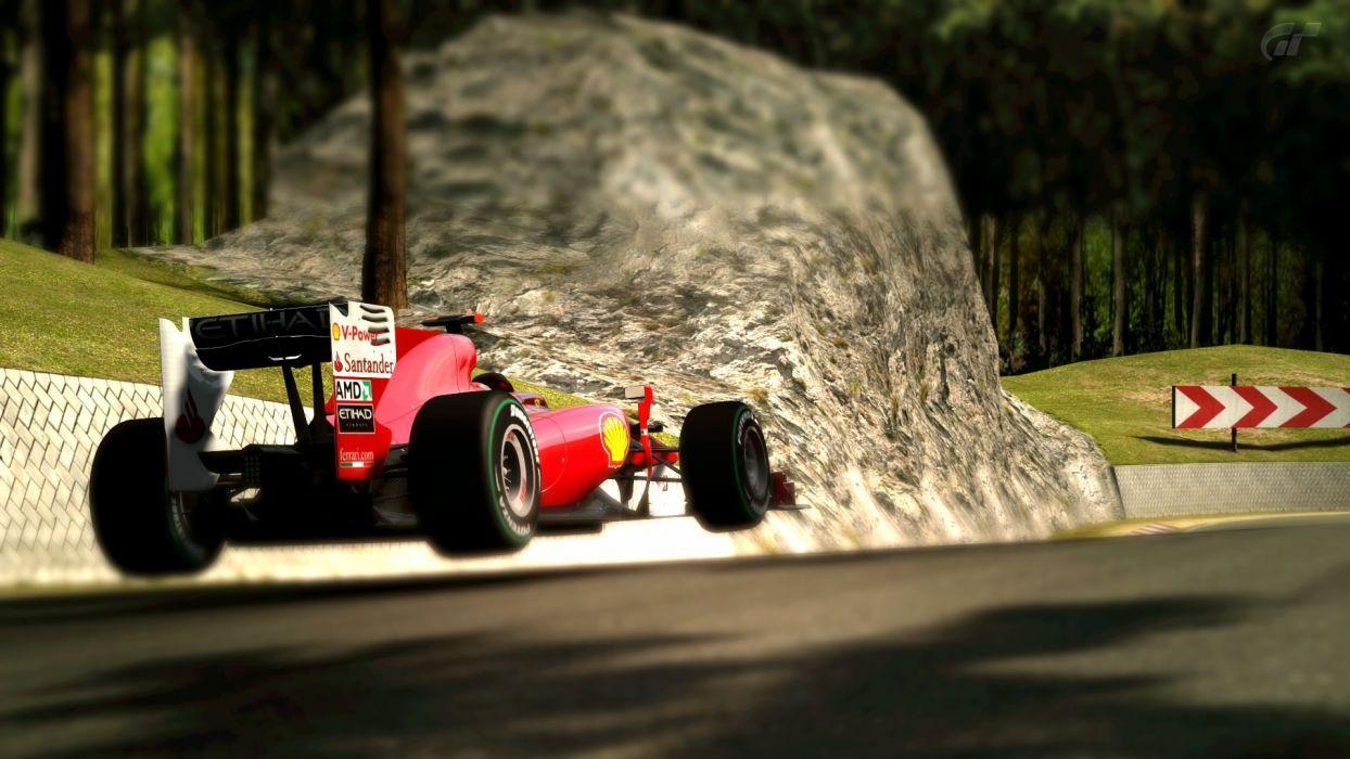 cars Formula One Gran Turismo 5 colors trial jump wallpaper
