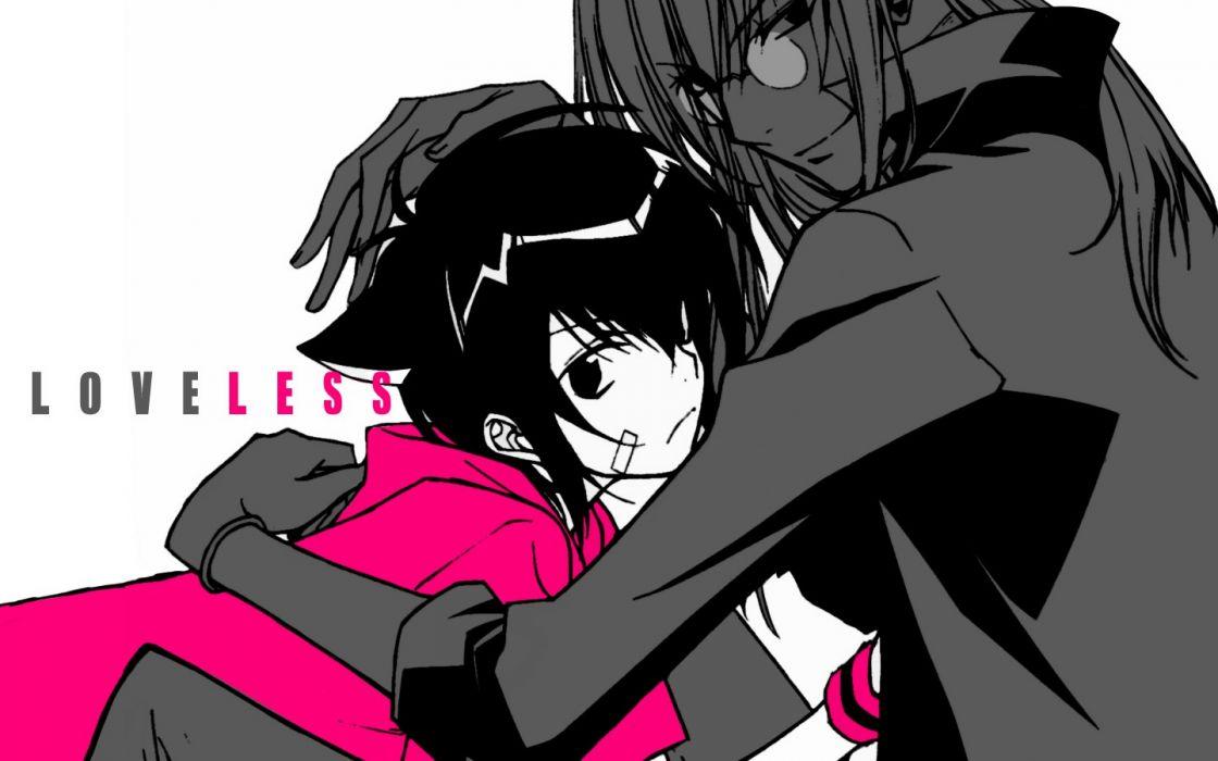 brunettes nekomimi Loveless cat ears anime anime boys Ritsuka Aoyagi Soubi Agatsuma selective coloring wallpaper