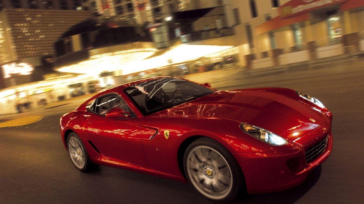 Ferrari vehicles red cars Ferrari 599 Ferrari 599 GTB Fiorano wallpaper