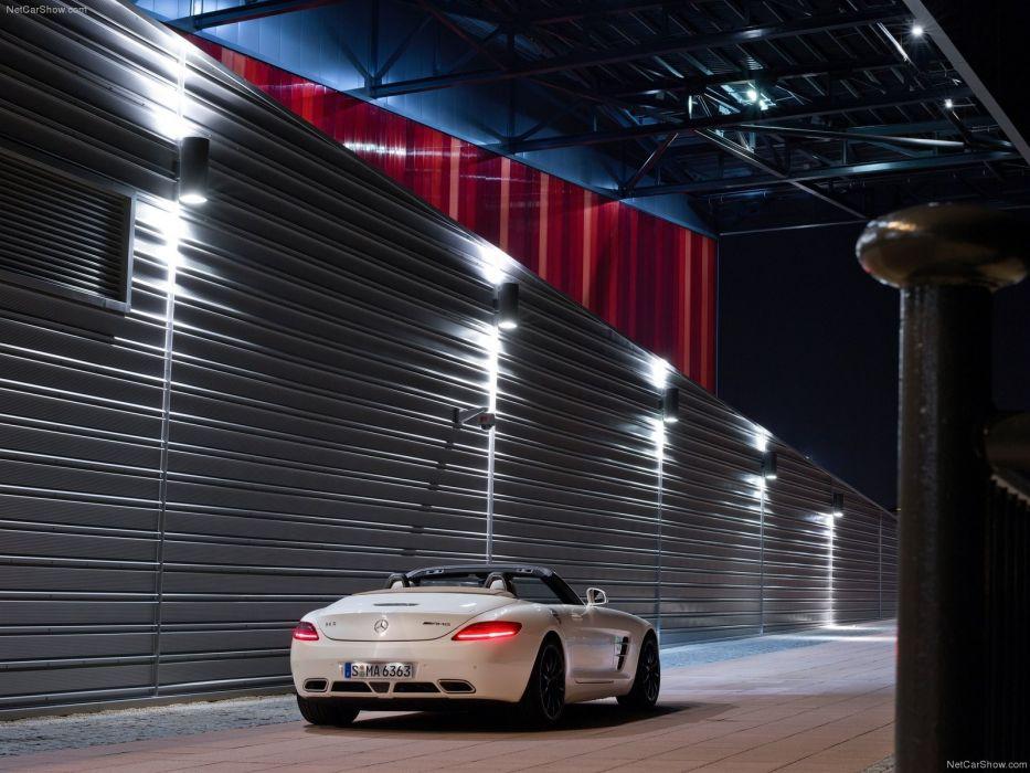 cars roadster Mercedes-Benz Mercedes-Benz SLS AMG E-Cell wallpaper