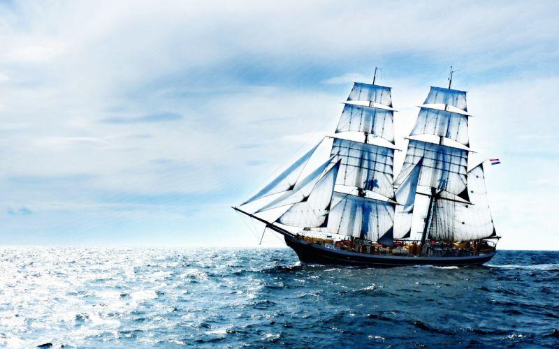 ocean nature ships wallpaper