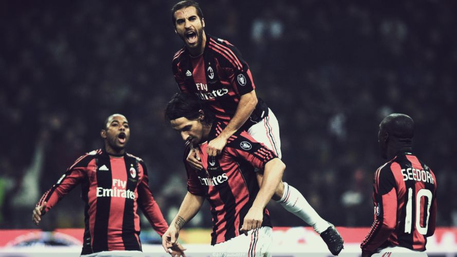 beast AC Milan Robinho Zlatan Ibrahimovic Mathieu Flamini Clarence Seedorf wallpaper