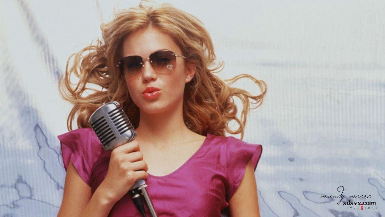 blondes women Mandy Moore actress models singers wallpaper