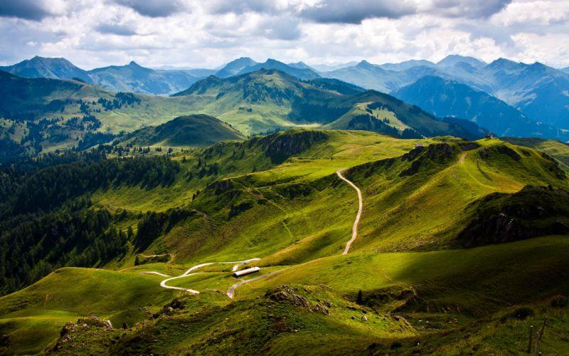 mountains landscapes Austria wallpaper