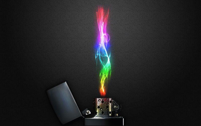 multicolor fire Zippo wallpaper
