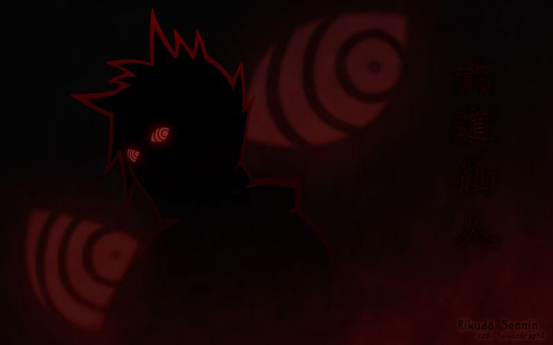 eyes silhouettes Naruto: Shippuden Rinnegan Rikudo Sennin wallpaper