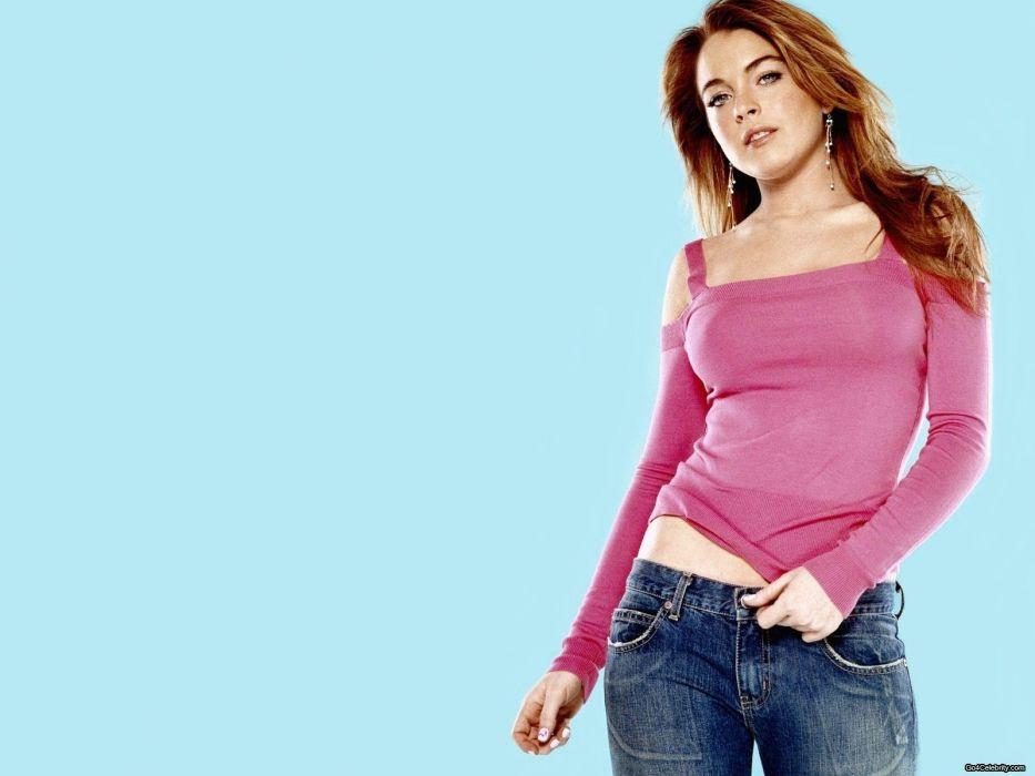 brunettes women Lindsay Lohan wallpaper