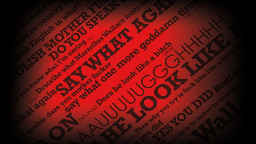 Pulp Fiction typography wallpaper