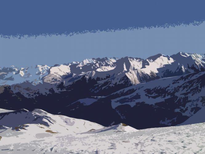 mountains landscapes winter snow ski wallpaper