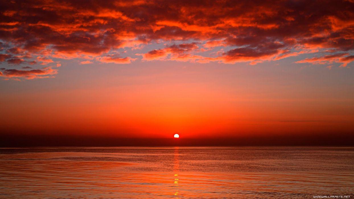 sunset nature wallpaper