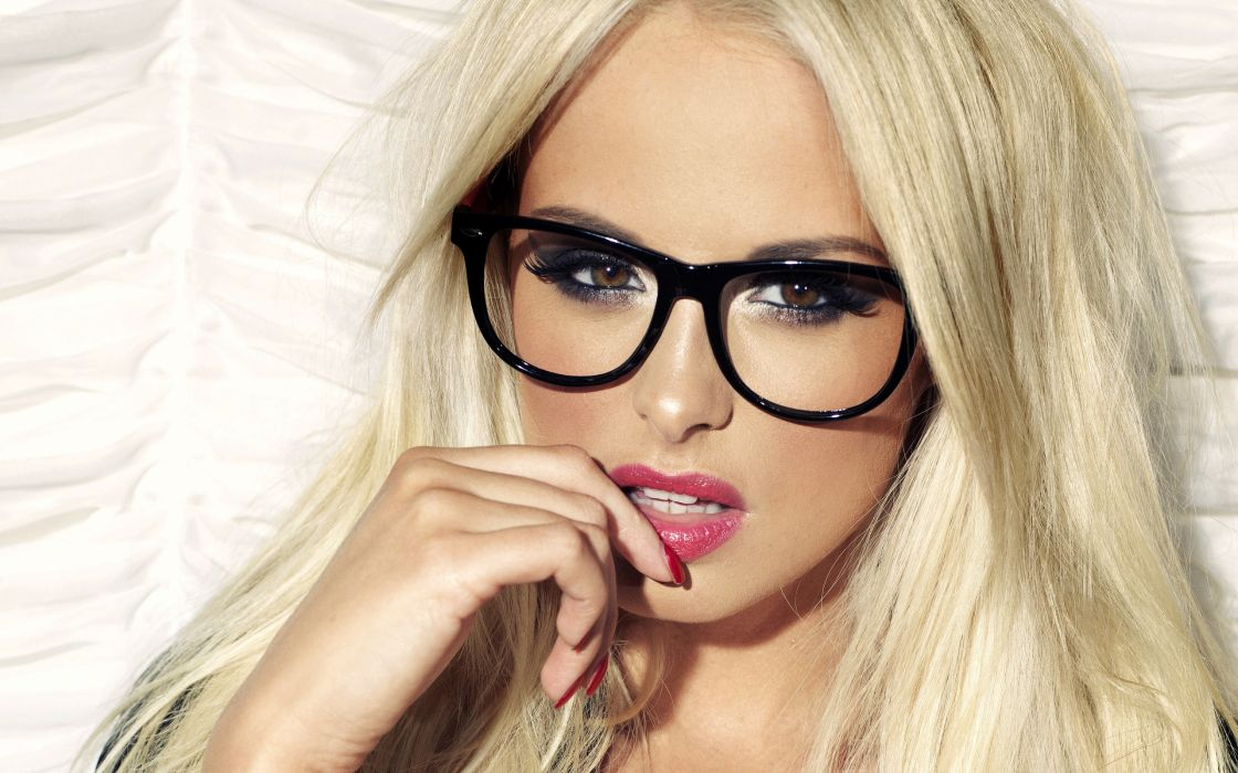 blondes women glasses wallpaper